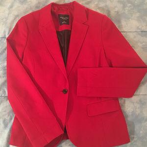 AEO Boyfriend Blazer in Red